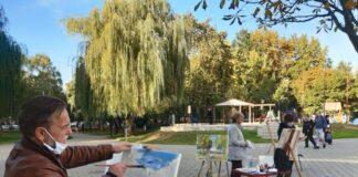 likovna kolonija u Svetosavskom parku