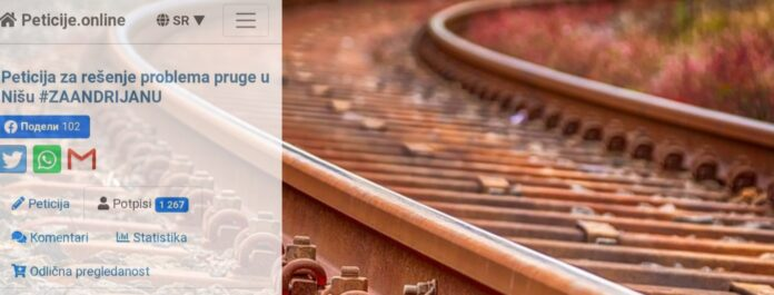 peticija za rešenje problema pruge