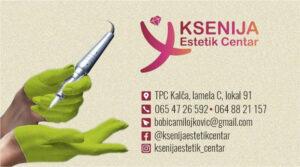 """Estetik centar """"Ksenija"""" čini tim profesionalaca koji su zaduženi za kompletnu negu Vašeg tela i lica"""